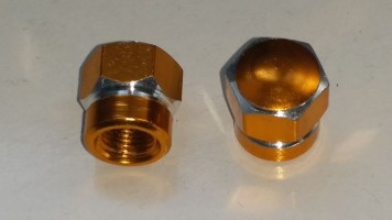 Ventilkappe Ring gold